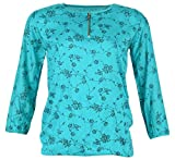 KALYANI CREATIONS Women's Top (Turquoise...