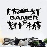 Gamer Gaming Poster Etiqueta De La Pared Pegatinas De Habitación Para Niños Gamers Niños Dormitorio Vinilo Tatuajes De Pared
