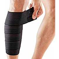 Little Sporter Sport Ankle Support Bandage Knee Wraps Elbow Wraps Knee Compression Elasticated Knee Calf Thigh Leg Support Your Ideal for Power Lifting Bodybuilding Black