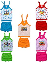 e8c705bfe0a1 Eazy Trendz Top And Bottom Rich Color Knot For New Born Baby Boys   Girls -  Set Of 5 0 To 6 Month (3-6…