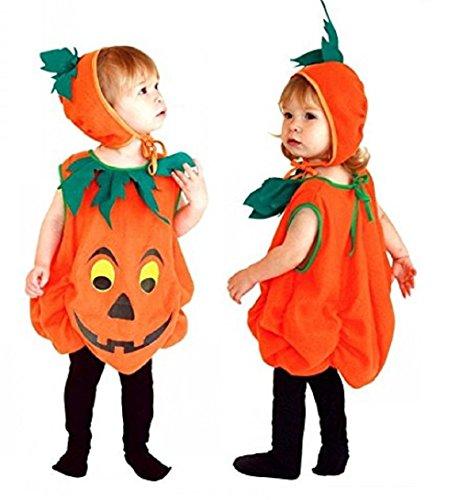 Inception Pro Infinite Größe M - 5 - 6 Jahre - Kostüm - Verkleidung - Karneval - Halloween - Kürbis - Gemüse - Orange - Kind (Billig Kostüme Für Halloween 2019)