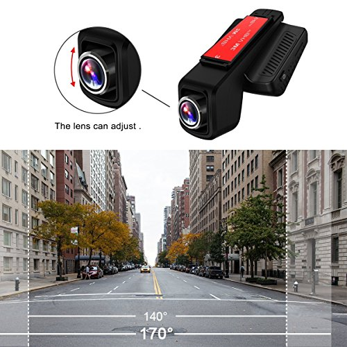 TOGUARD Dash CamWiFi Dashboard CameraStealth total HD 1080P Dash Camera170 Degree huge Angle Lens 245 IPS LCDCar DVR roads Video Recorder trap Recording HDR Parking Monitor Motion Detection car or truck Driving Recorders