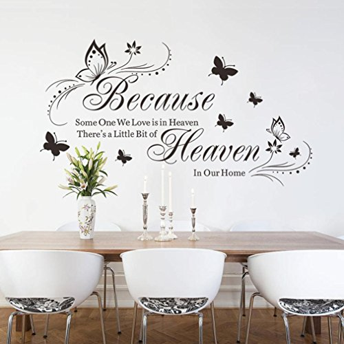 Manadlian Wandsticker ❤️ 42 * 57cm Schmetterling DIY Hintergrund Wand Zuhause Wandbild Dekoration Entfernbar Wandaufkleber (Schwarz)