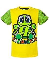 bbfea742 VR46 Valentino Rossi MotoGP Cotton Short Sleeve Turtle Kids T-Shirt Yellow  1/3
