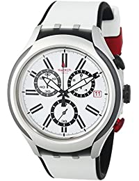 Swatch Reloj de cuarzo Unisex Black Wheel  45 mm