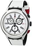 Swatch Herren-Armbanduhr BLACK WHEEL Chronograph Quarz Silikon YYS4005