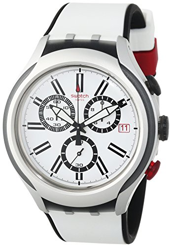 Swatch Reloj de cuarzo Unisex Black Wheel  45 mm