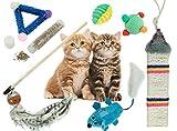 BPS® Pack de Juguete para Gatos Gatitos Mascotas Animales Domésticos Incluido Hierba Gatera (Catnip) y 6 Juguetes