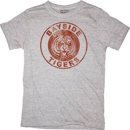 Saved By the Bell Bayside Tigers Logo grau Junior T-Shirt, X-Large -