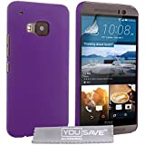 Yousave Accessories HTC One (M9) 2015Fall Hard Hybrid Cover–Violett