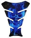 Tankpad 3D - 500067 - Ghost Blue Totenkopf-Motiv