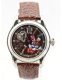 Disney Uhr Damen-Armbanduhr Automatikuhr Daisy Duck Leder Strass DA-DO-HE-BR
