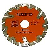 AERZETIX: Disco de diamante turbo segmentado 115mm 22.2mm para amoladoras angulares de corte baldosas piedra hormigón C18203