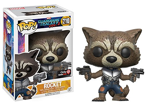 Funko - Guardians of the Galaxy Collection, Vol. 2 - Vinyl Pop Line - Code 12788 - 210 Figure of the Rocket Character, Vinyl, Limited Edition, 9 cm Height