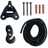 La Siesta - Set de Ajuste para Hamacas - 3 Modelos - Universal Rope, Ganchos de plástico resistente a la intemperie