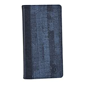 Jo Jo Bark Series Cover Leather Pouch Flip Case For Lava Iris 550Q Dark Blue