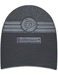 Dunlop Caoutchouc Talons Prise Noir 1 paire pour bricolage de réparation de chaussures - 8 mm épaisseur En circulation composé mélange - 100 x 90 mm