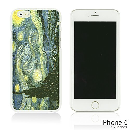 OBiDi - Art Paintings Hardback Case / Housse pour Apple iPhone 6 / 6S (4.7 inch)Smartphone - Vintage Painting Birds and Flowers Van Gogh Starry Night