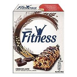 Fitness Cioccolato Barretta di Cereali Integrali con Cioccolato Fondente, 6 Pezzi