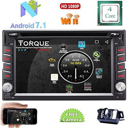 """Spiegel-reverse-kamera Für Auto (Eincar Neuestes Android 7.1 Nougat Quad-Core-Systems-Auto-DVD-Spieler in der Schlag-Double 2 Lärm-Auto-Entertainment-PC Stereo GPS-Navigation mit Bluetooth WIFI 6.2"""" HD Touchscreen Radio Receiver + Free Reverse-Kamera)"""