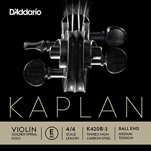 D\'Addario K420B-3 Kaplan Violinen Einzelsaite \'E\' Verzinnter Kohlefaser-Stahlkern 4/4 Medium