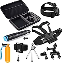 SHOOT 10-in-1 Kit Accesorios Deportes al Aire Libre para GoPro Hero Session/GoPro Hero 6 5 4 3+ 3 2 1 SJCAM SJ4000 SJ5000 SJ6000 Lightdow / Xiaomi Yi / WiMiUS / DBPOWER / Cámara de Acción APEMAN / Action Camera Campark