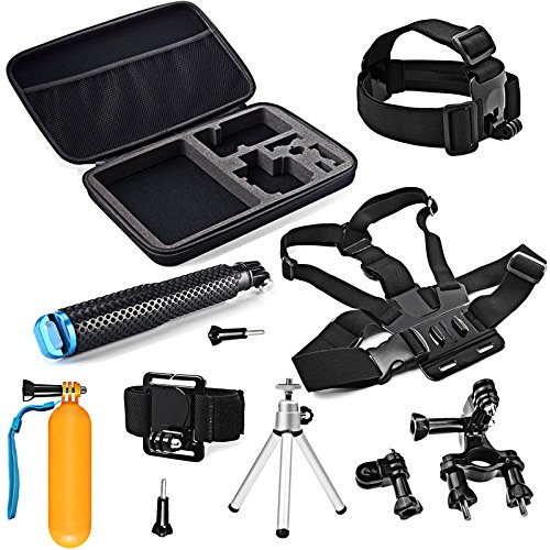 SHOOT 11 en 1 Accessoires Pack Kit Sports Camera pour WiMiUS GoPro Hero 6/5/4/3 +/3/5 Session/4 Session Crosstour Campark YI 2K Nouveau