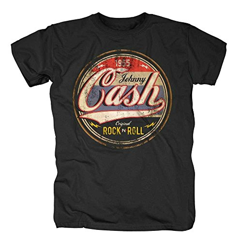 Johnny Cash -  T-shirt - Maniche corte  - Uomo nero 48/50