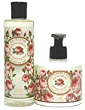 Panier des Sens: Duschgel Rose 250ml & Hand-/Bodylotion Rose 300ml, mit echtem Damaszener Rosenöl - 2-teilig
