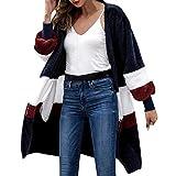 Resplend Frauen Langärmelige Lange Strickjacke Mode Rundhals Cardigan Mantel Winter Arctic Velvet Jacke Outwear