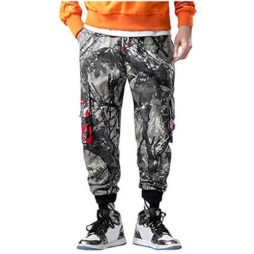 Clacce Hosen Hose Sporthose Cargohose Trainingshose Cargo Pants Jogginghose Sweatpants Jogger Mode Freizeit Laufen Streifen Enger Beinabschluss