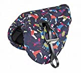 Waterproof Ride On Saddle Cover Dog Print