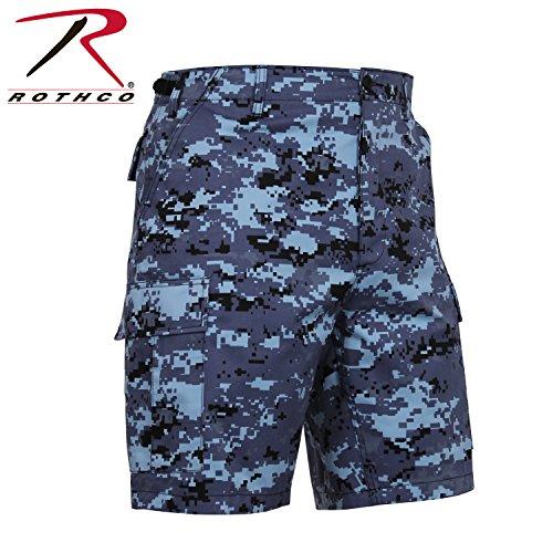 Rothco BDU Combat Herren Shorts, Herren, 67313LRG, Blau (Sky Blue Digital Camo), L Bdu Sky Blue Camo