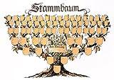 Schmuckbild 'Stammbaum': Kunstdruck-Ahnentafel in Baumform