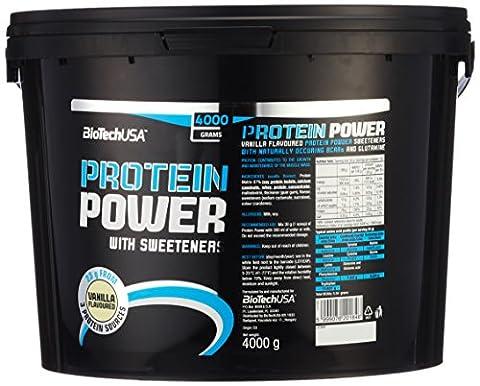 Biotech USA Protein power Vanille, 1er Pack (1 x 4 kg)