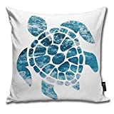 BlueBling Fashion Funny Throw Pillow Covers Ocean Sea Turtle Printed 18 x 18 Inches Cases Cushion Cover Pillowcases for Home,Indoor,Bed,Gard