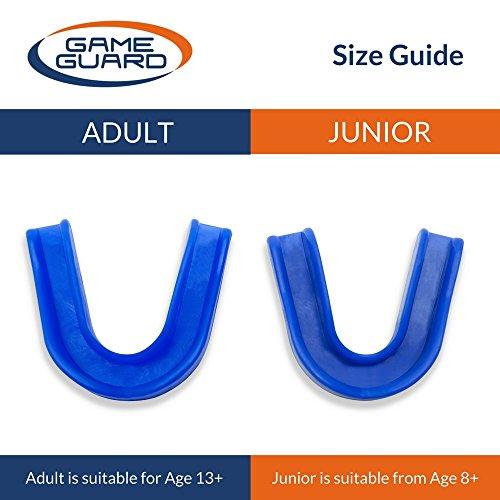 Dispenser of 10 - GAME GUARD Adult Gumshields - BABY BLUE