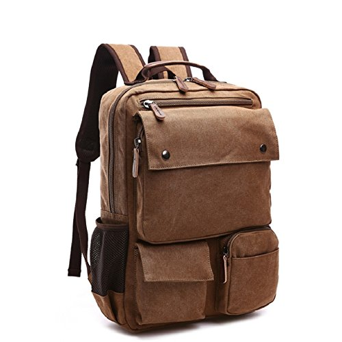 LF&F Neue Retro-Leinwand-Taschen Outdoor-Sporttasche beiläufiger Schulterbeutel Rucksack Laptoptasche Multifunktions Wandern Reiten Bergsteigen Army Green