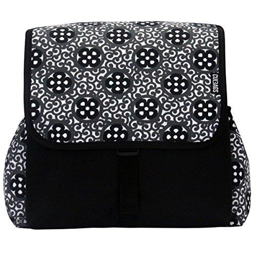C-BAGS BETSIE double VITRAIL Gepäckträger 2-er Set Tasche verschiedene Muster black-grey
