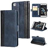 KAMILEO Huawei P8 lite Hülle Leder Wallet Tasche Flip Case Handyhülle Schutzhülle