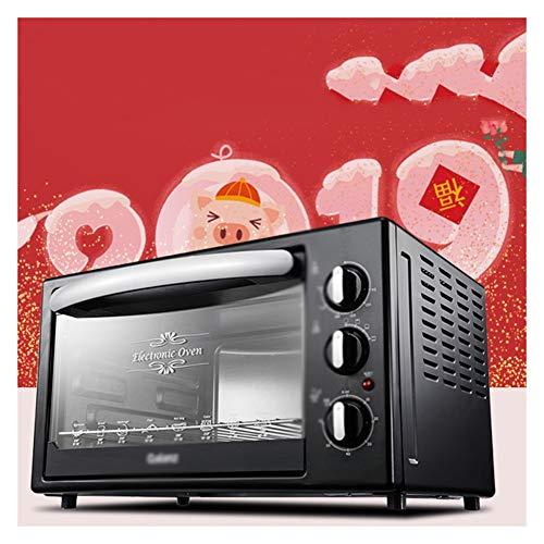 QPSGB Öfen-Mini-Ofen-Elektrogrill , 1500W (Schwarz) Schnelle Aufheizung Toaster-Öfen mit Timer-Rack-Klein genug für die Tischplattenverwendung - Backöfen (Schnelle Toaster Ofen)
