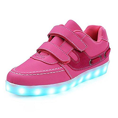 Led Leuchten Schuhe Mit Turnschuhe 7 Farben USB Lade Kinderschuhe Brillant Sneaker Damen Herren Kinder Jungs Mädchen Rosa