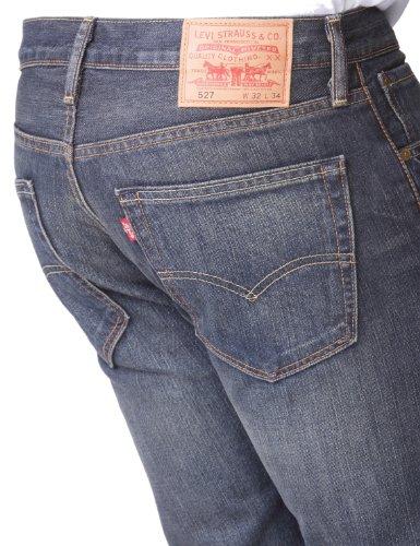 Levi's Herren Jeans 527 Boot Cut Fit Blau (Dusty Black 0015)
