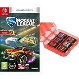 Rocket League - Edición Coleccionista + Funda para almacenamiento de juegos (Rojo) AmazonBasics