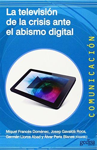 Este libro recoge una selección de textos de las conferencias, ponencias y comunicaciones presentadas en las diferentes sesiones de las VI Jornadas en Contenidos Audiovisuales para la Televisión Digital (CONTD) celebradas en Valencia el mayo pasado. ...