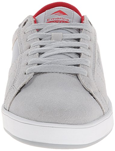 Herren Skateschuh Emerica The Leo Dos Skateschuhe Grey/Red