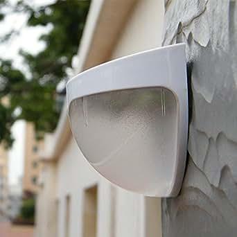 Jiam Exterieur Jardin Wireless Solar Powered Solaire Sensor LED Light Clôture Lumière Mur Lampe