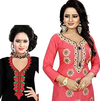 Moksha Enterprise_Women's Bangalori Satin Long Skirt Gown And Top (red_01_red_ Free Size)