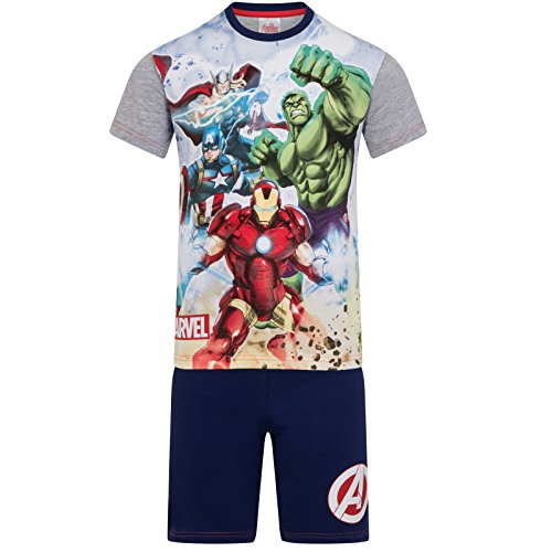 Marvel - Los Vengadores - Pijama con pantalón Corto y Camiseta de Manga Corta - para niño