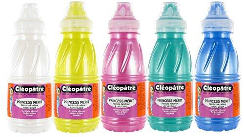 cleopatre-pam-pack-de-5-frascos-de-pintura-acrilica-250-ml-nacarada